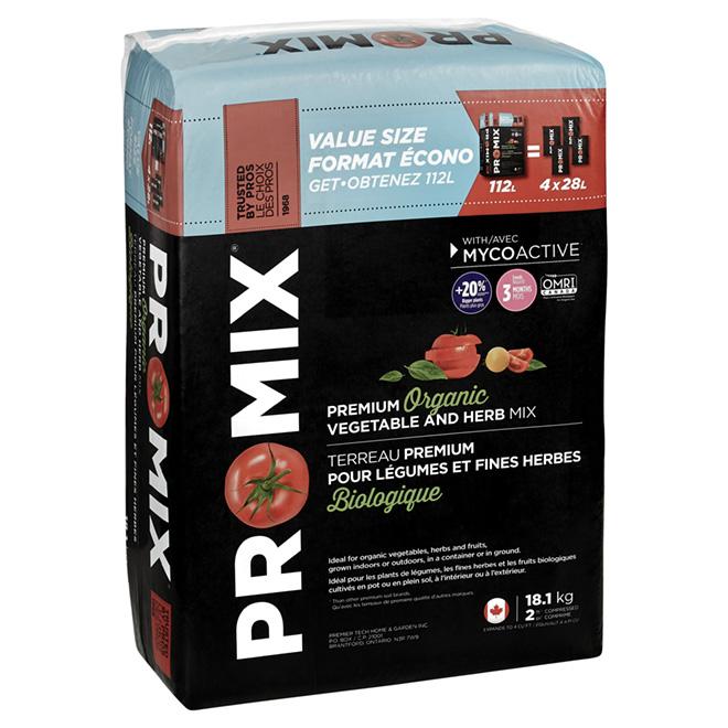 Mélange biologique « Premium » potager & fines herbes , 56 l