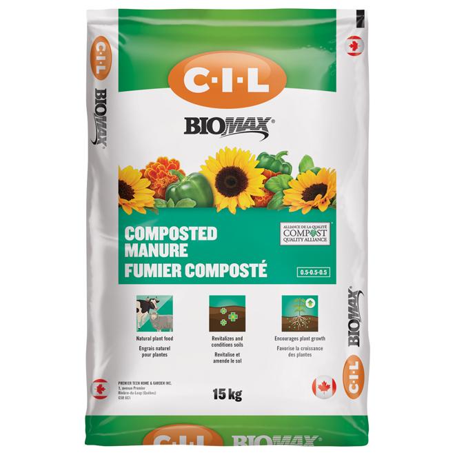 Compost de fumier Biomax(MD), 15 kg