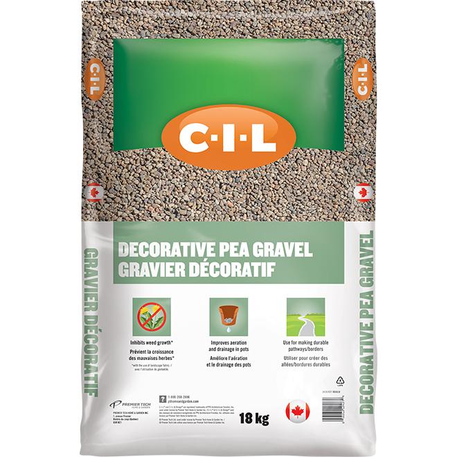 Gravier décoratif, 18 kg, naturel