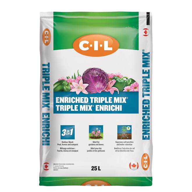 C-I-L Enriched Soil 3-in-1 - Bag of 25 Litres