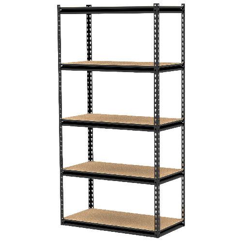 "5-Shelf Storage Unit 36"" x 18"" x 72"" - Black"