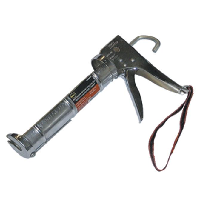 Tige à cliquet de fusil à calfeutrer robuste, chrome, 9''