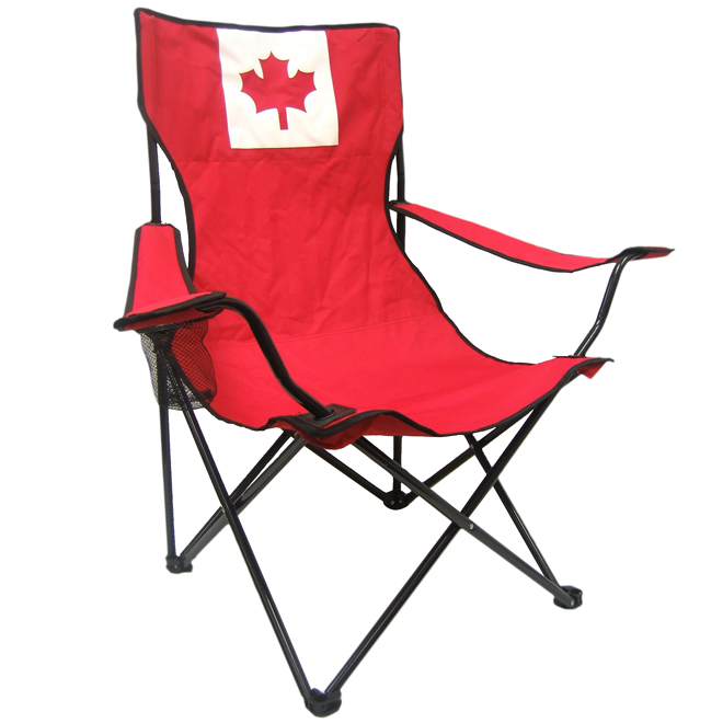 Holland Imports Camping Chair - Canada Flag - Red and White C003157-ML