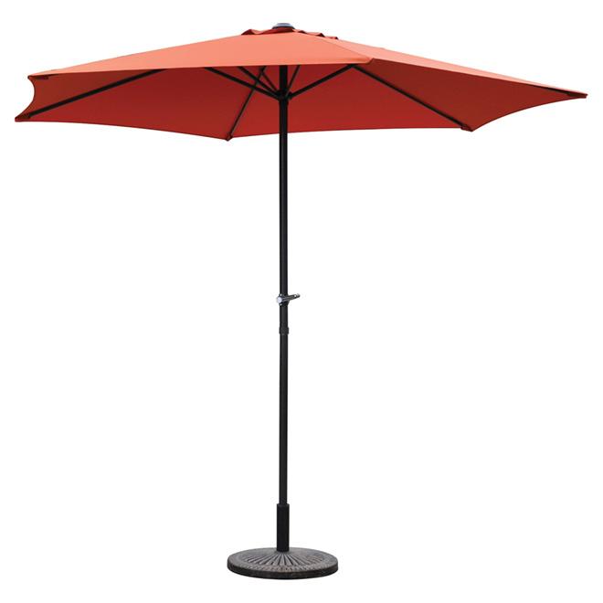 Parasol en polyester, 7 1/2', terracotta