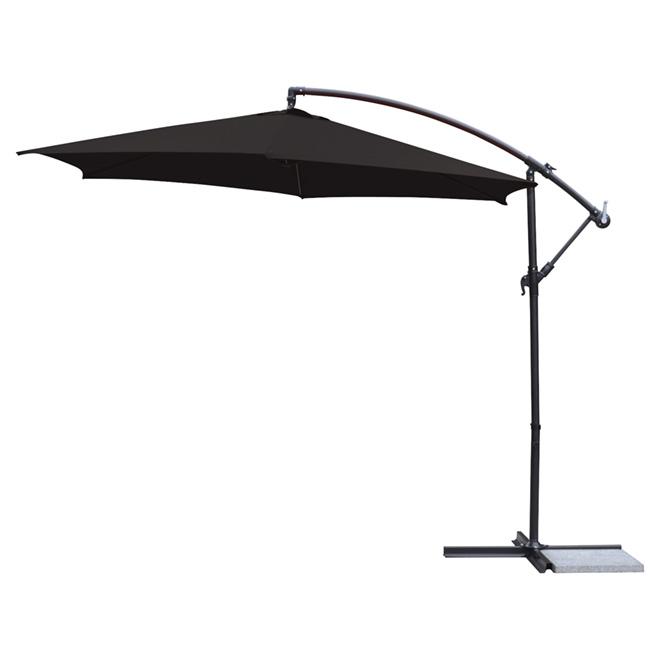 Cantilever Umbrella - Polyester - 10' - Black