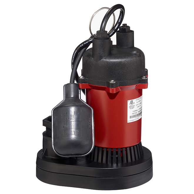 Sump Pump Submersible - 1/3HP - 3200 gal./h - Red