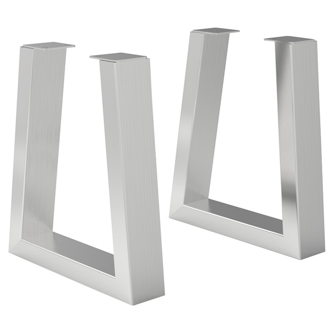 Set of 2 Legs for Bench - Stainless Steel