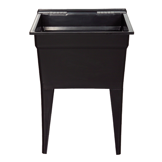 "Technoform Laundry Tub - 24"" x 22"" x 32.5"" - Polypropylene - Black"