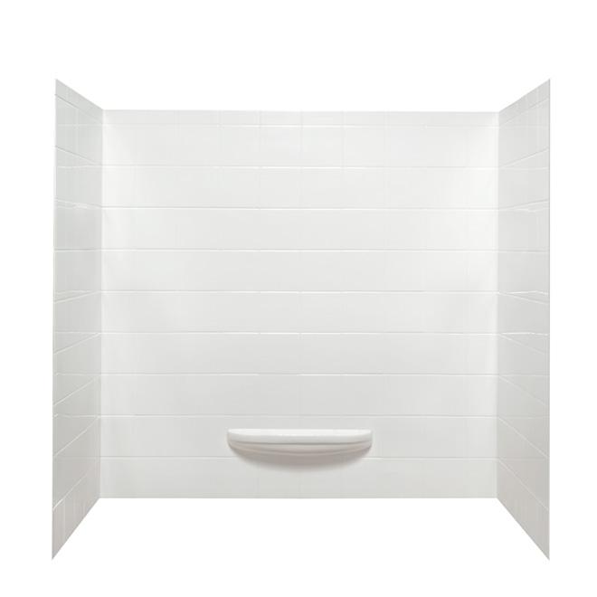 """Avalanche"" Tub Surround - Acrylic - White"