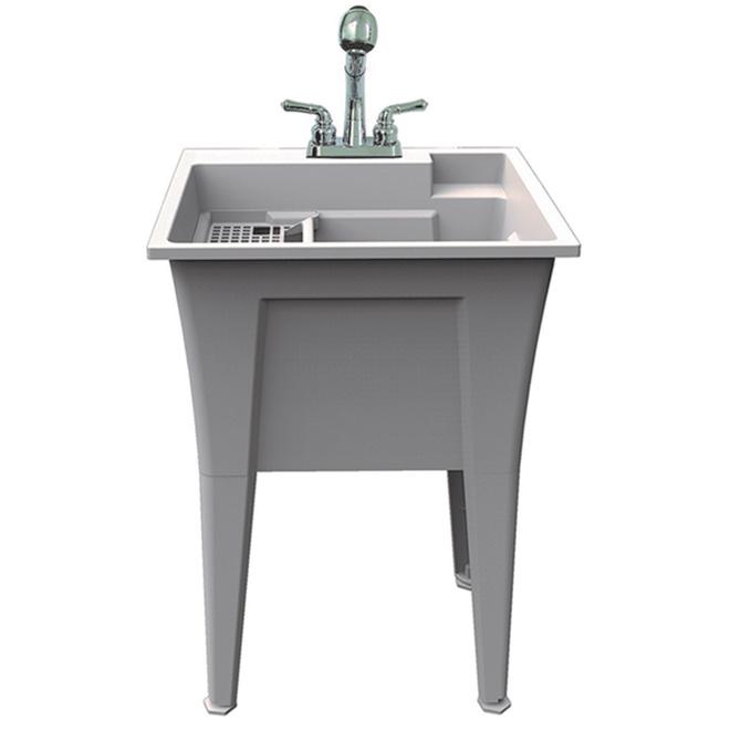 Ruggedtub All In One Laundry Sink - Plastic - 24-in x 22-in - Granite