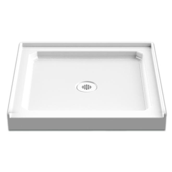 Technoform Pandora White Acrylic Shower Base - 32-in x 32-in