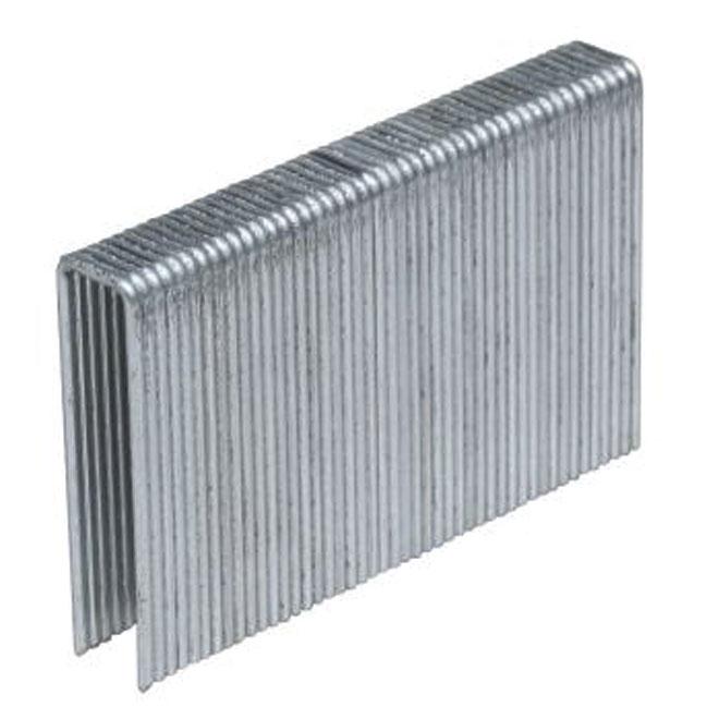 Agrafes galvanisées, cal. 16,  1/2 po x 1  1/2 po, boîte de 5 000