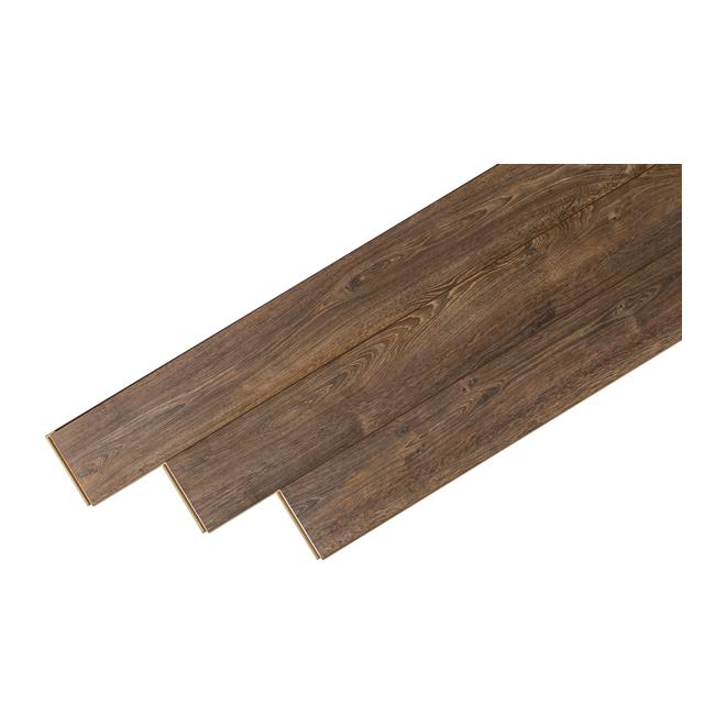 Plancher stratifié « Megaloc » 12mm, Chêne Marron