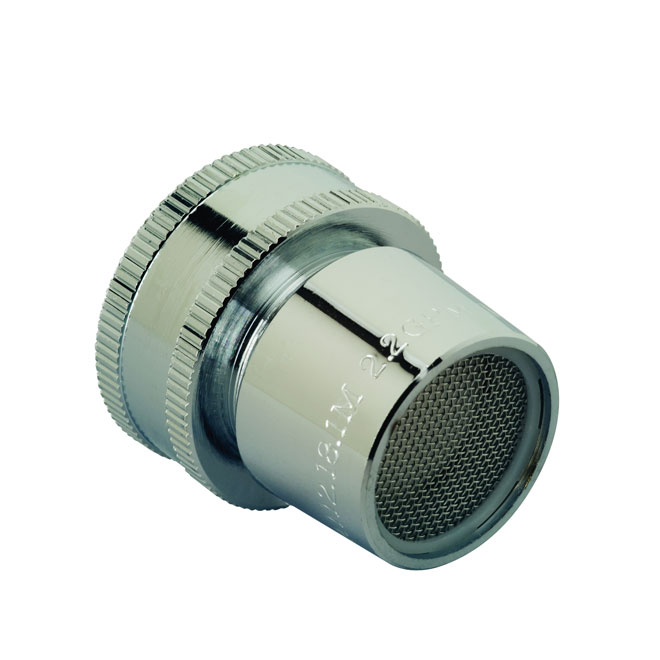 "Laundry Faucet Aerator -1.7 gal./min -3/4"" - Brass - Chrome"