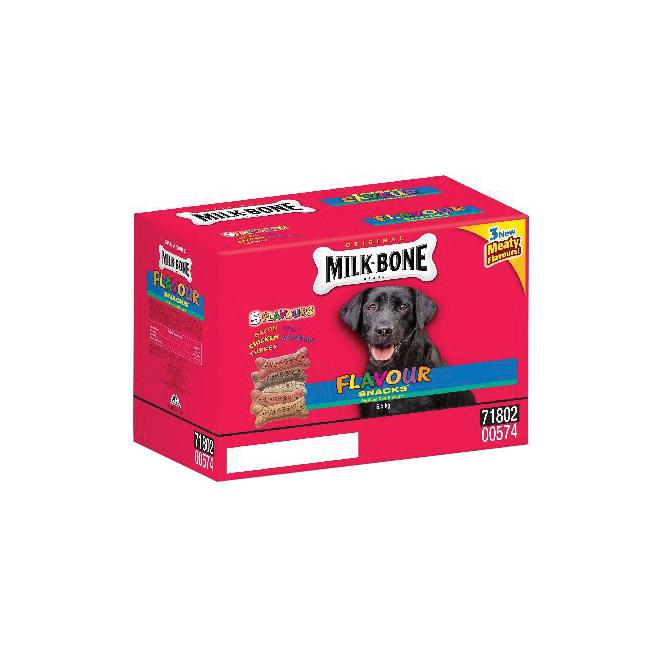 Biscuit pour chien moyen, 5 saveurs, 6,5 kg