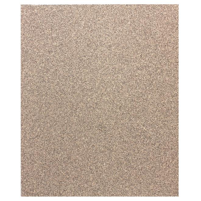 Papier abrasif polyvalent, 9'' x 11'', 80 grains, brun