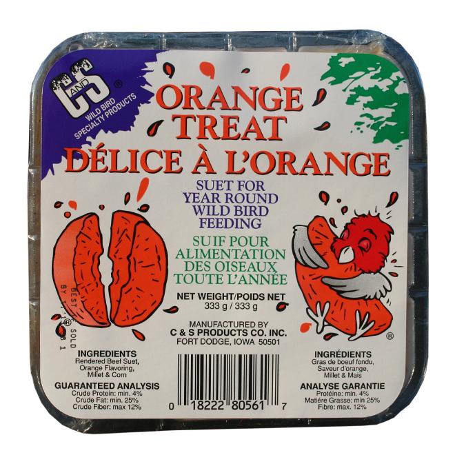 Suif pour oiseaux, Délice de suif à l'orange, 333 g