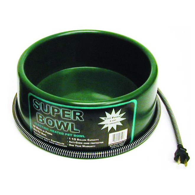 Heated Pet Bowl -  Green - 60W - 1 1/2 Gallon