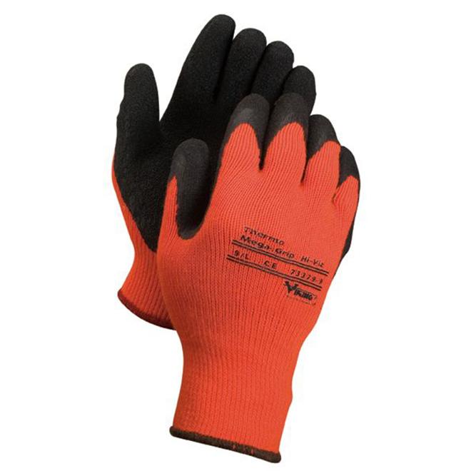 Gant de travail thermal pour hommes, orange, grand
