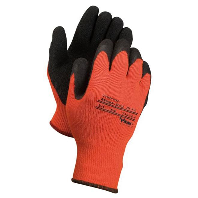 Gant de travail thermal pour hommes, orange, très grand