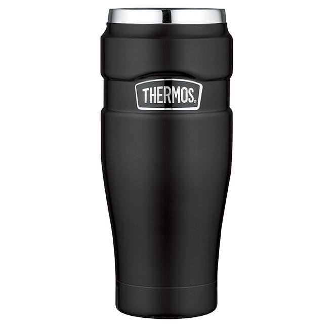 Vacuum Insulated Travel Tumbler - Black Matte - 470 ml