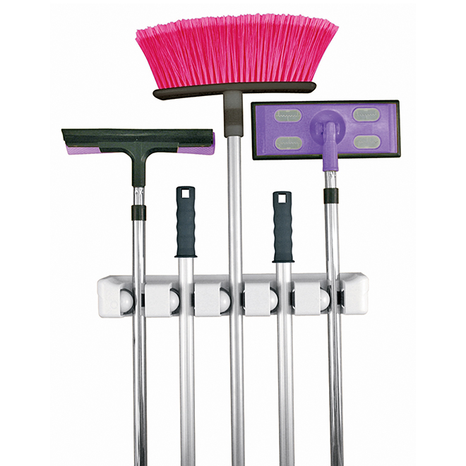 EVRIHOLDER Broom and Mop Wall Organizer - 5 Position MH5-W | RONA