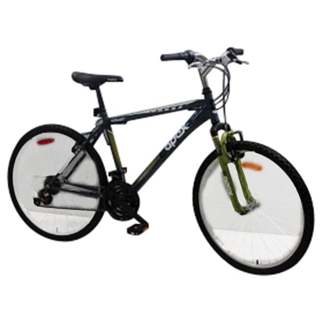 """Bicyclette pour hommes, 26"""", noir/vert"""