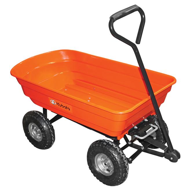 KUBOTA Chariot de jardin à benne basculante, capacité de 264 lb ...