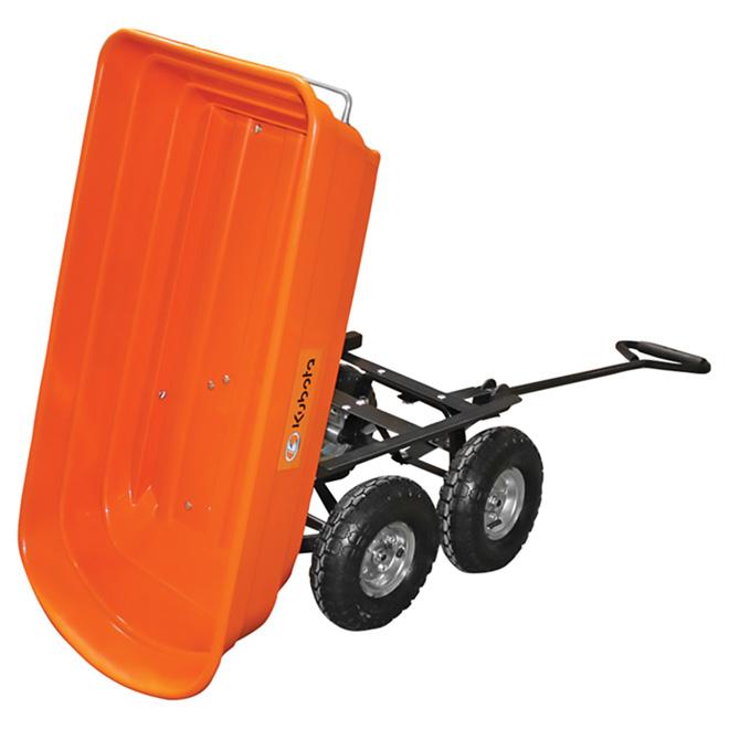 Chariot de jardin à benne basculante, capacité de 264 lb