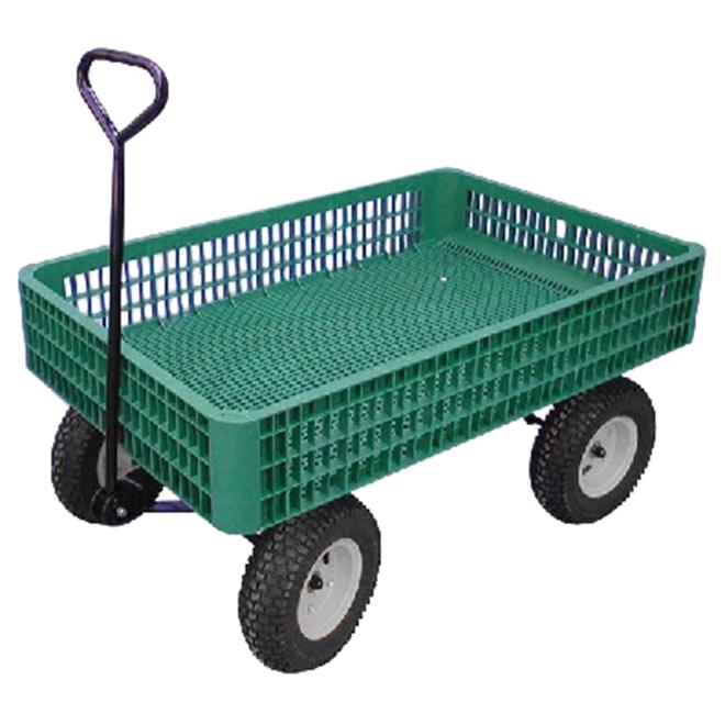 """Chariot de type caisse, capacité de 800 lb, 30"""" x 46"""""""