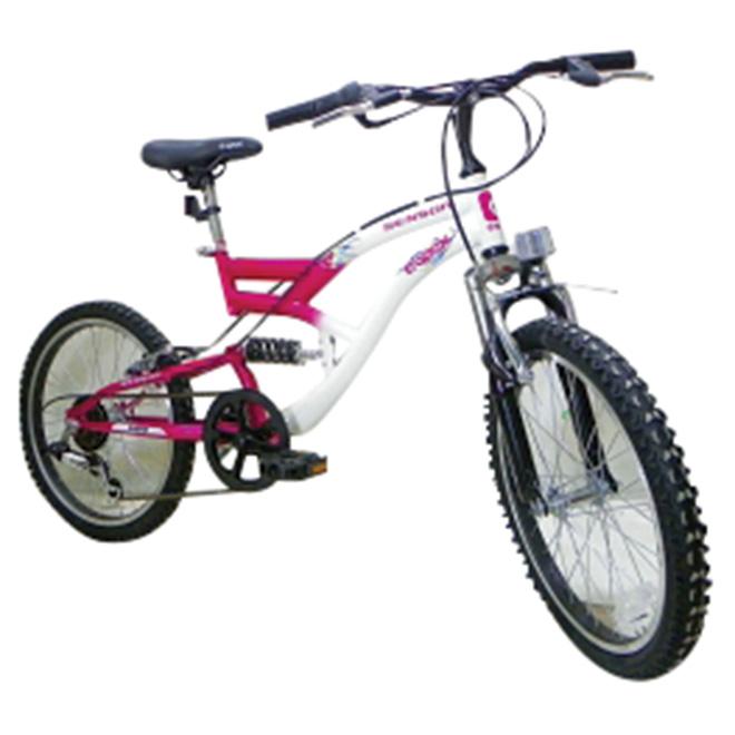 """Bicyclette pour filles, 20"""", rose/blanc"""