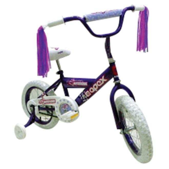 """Bicyclette pour filles, 14"""", mauve/blanc"""