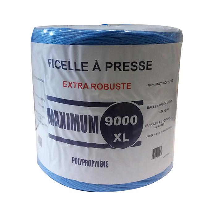 Ficelle à presse robuste, bleu, 9000'