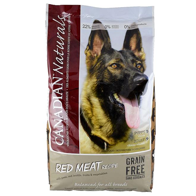 Nourriture pour chien sans céréale à la viande rouge, 25 lbs