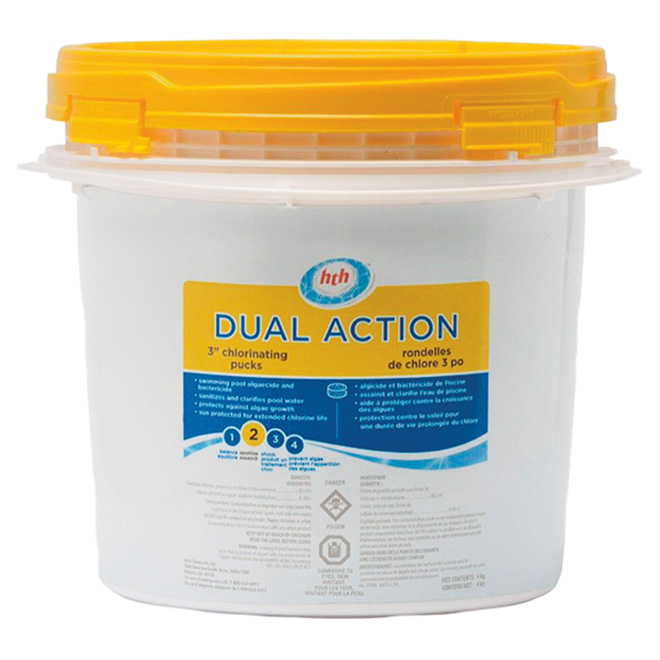 """Pool Dual-Action Stabilized Chlorinating Pucks - 3"""" - 4 kg"""