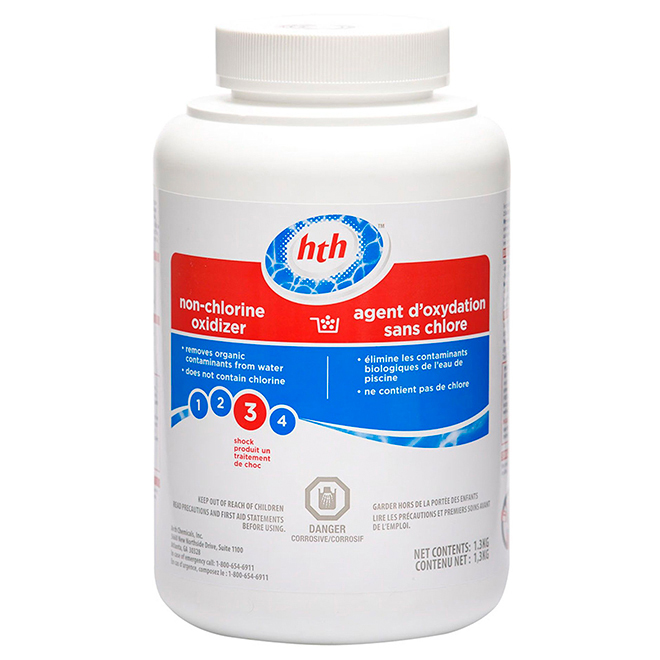 Oxydant sans chlore pour piscine, 1,3 kg