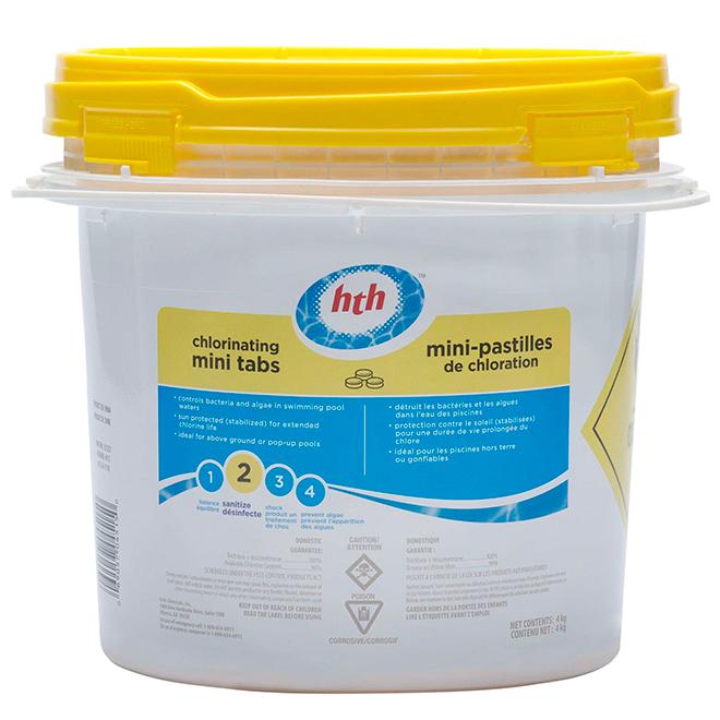 Mini-pastilles de chlore stabilisé pour piscine, 15 g, 4 kg