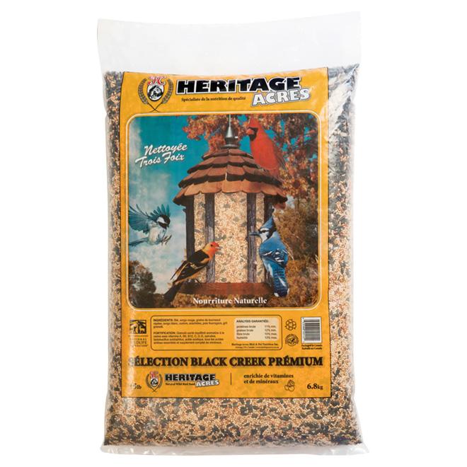 Nourriture Black Creek, oiseaux sauvages, sans maïs, 6,8 kg
