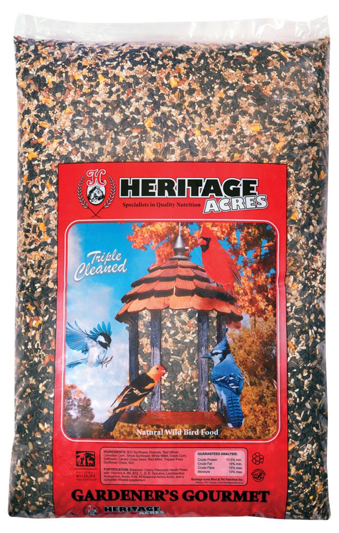 Heritage Acres Bird Food - Wild Bird Gardeners Gourmet - 13.6 kg 403-016