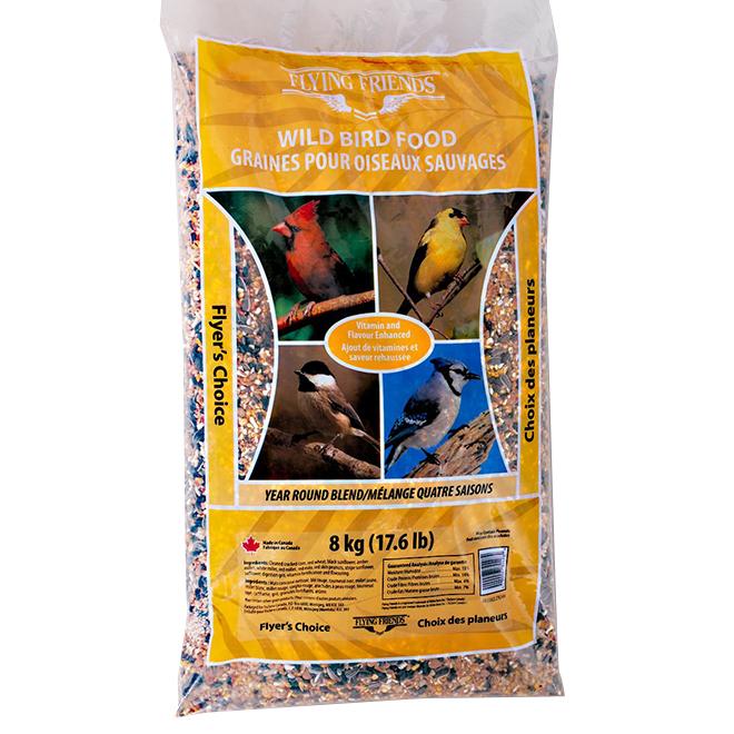 Nourriture pour oiseaux sauvages, choix des planeurs, 8 kg
