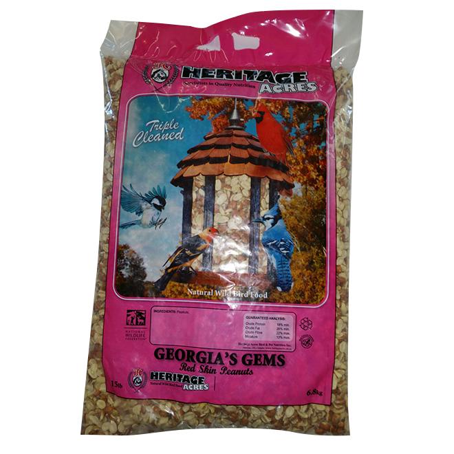 Arachides gemmes de la Géorgie pour oiseaux sauvages, 6,8 kg