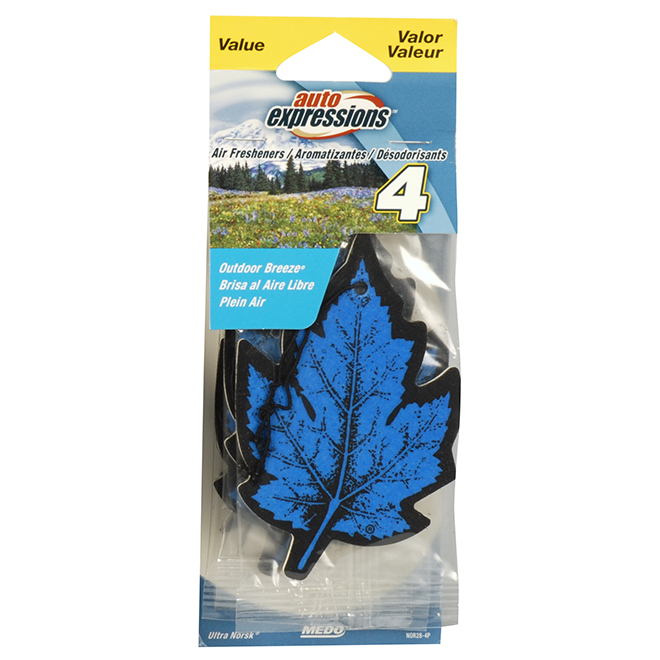Car Air Freshener - Outdoor Breeze - 4-Pack