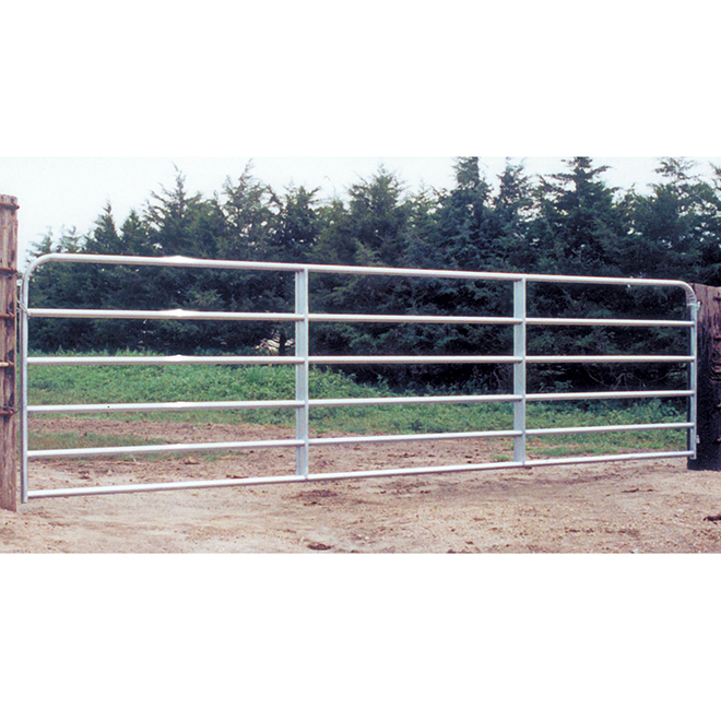 "Fence Gate - 6 Bars - Galvanized Steel Tube - 50"" x 6'"