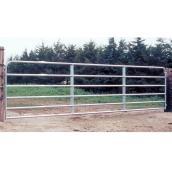 """Barrière de clôture, 6 barres, tube d'acier galv., 50"""" x 6'"""