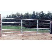 """Barrière de clôture, 6 barres, tube d'acier galv., 50"""" x 8'"""