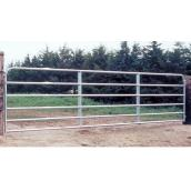 Fence Gate - 6 Bars - Galvanized Steel Tube - 50
