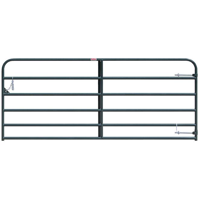 """Medium-Duty Fence Gate - 6 Bars - Green - 50"""" x 10'"""