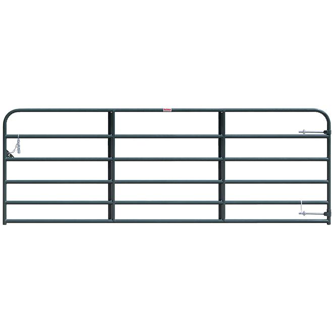"""Medium-Duty Fence Gate- 6 Bars - Green - 50"""" x 12'"""
