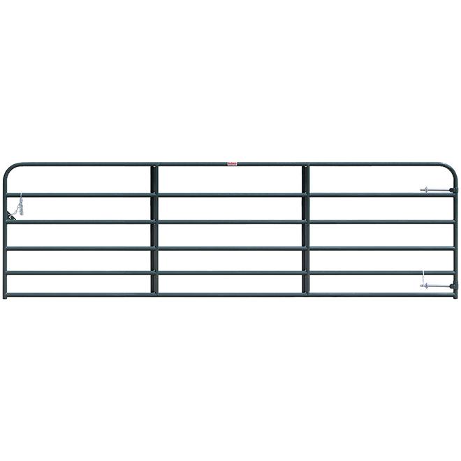 """Medium-Duty Fence Gate - 6 Bars - Green - 50"""" x 14'"""