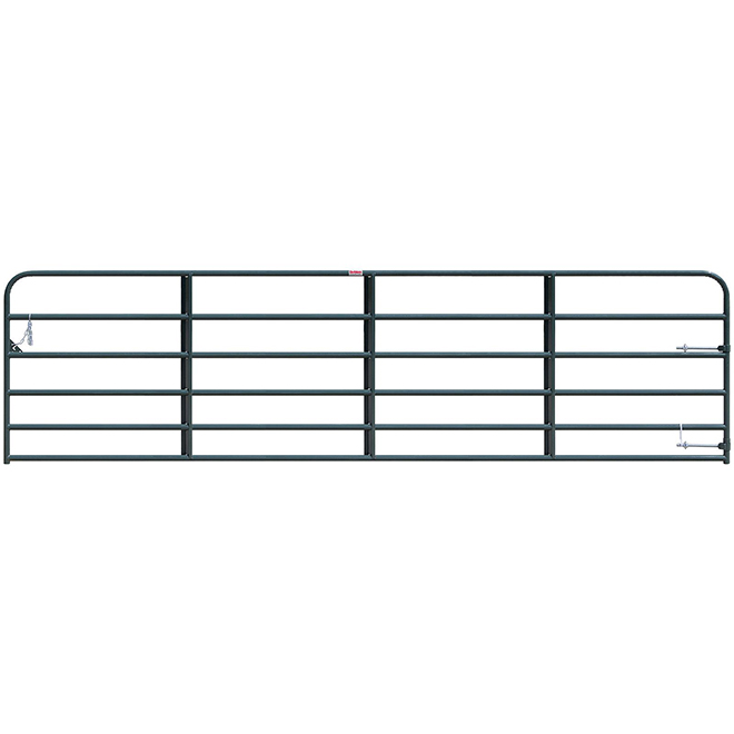 "Medium-Duty Fence Gate - 6 Bars - Green - 50"" x 16'"